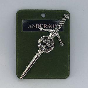 Anderson Clan Crest Kilt Pin
