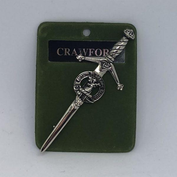 Crawford Clan Crest Kilt Pin