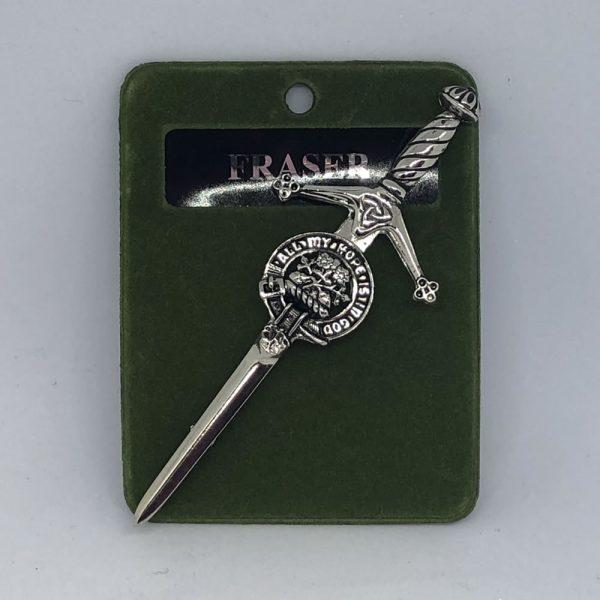 Fraser Clan Crest Kilt Pin