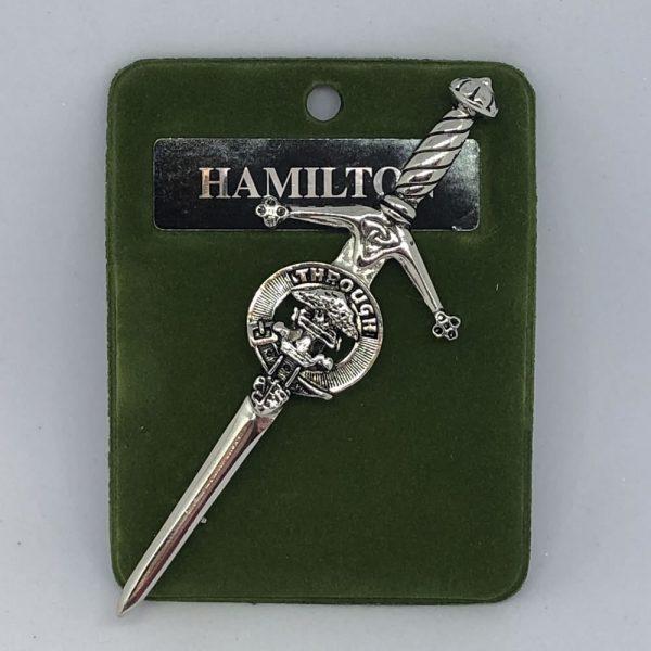 Hamilton Clan Crest Kilt Pin