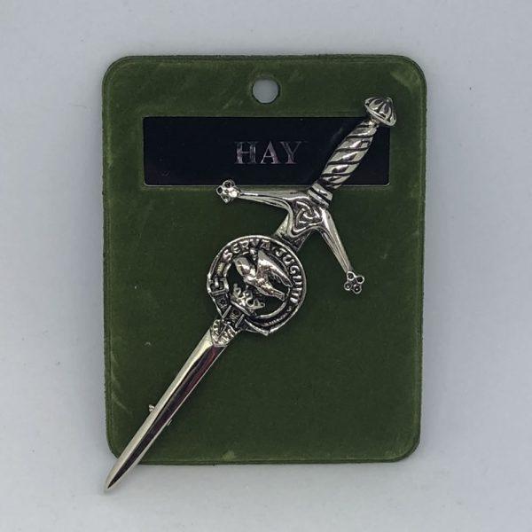 Hay Clam Crest Kilt Pin