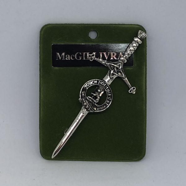 MacGillivray Clan Crest Kilt Pin