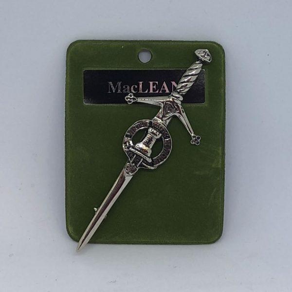 MacLean Clan Crest Kilt Pin