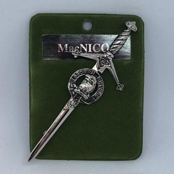 MacNicol Clan Crest Kilt Pin