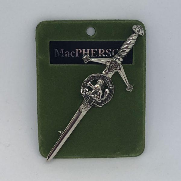 MacPherson Clan Credt Kilt Pin