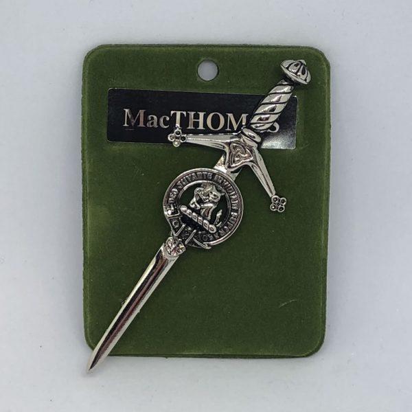 MacThomas Clan Crest Pin
