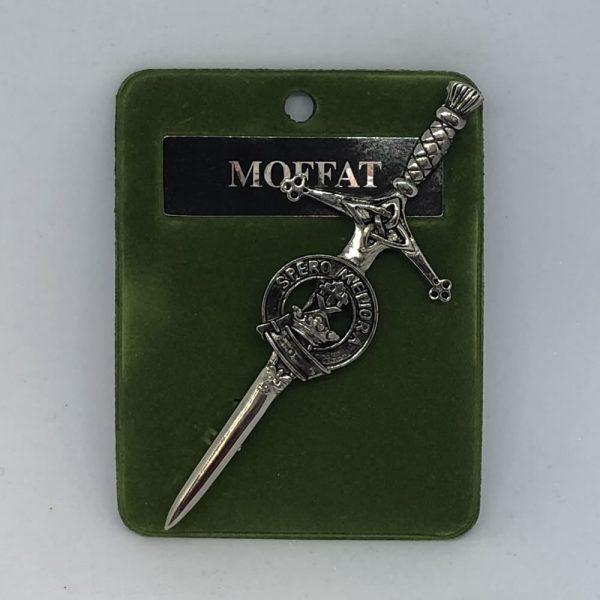 Moffat Clan Crest Kilt Pin