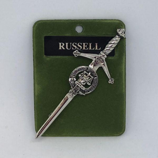 Russell Clan Crest Kilt Pin
