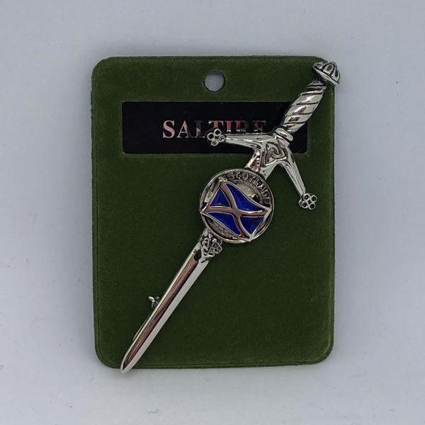 Saltire Clan Crest Kilt Pin