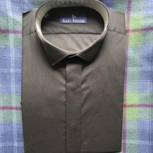 Black Wing Collar Shirt