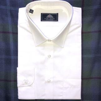 Full Collar White Shirt